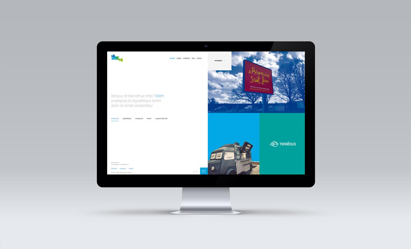 Totem - Enseignes et signalétique - Nouveau site internet